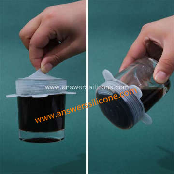 Eco-Friendly Food Grade Silicone Cup Lids Cover