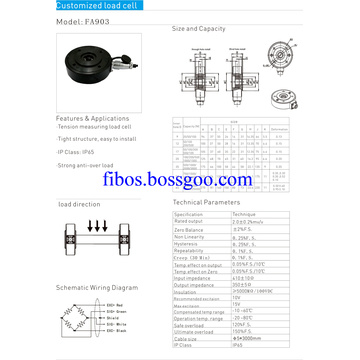 Fibos customized tension load cell sensor