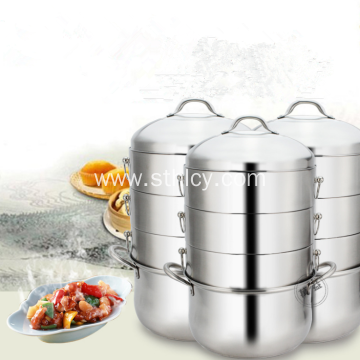 Large Capacity High Quality Stainless Steel Steamer Pot