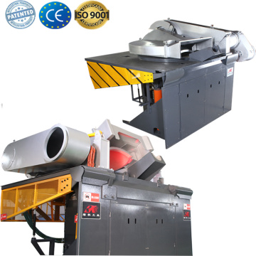 Induction furnace steel making for steel foundry