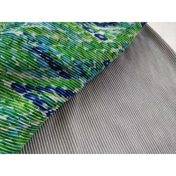 Shiny Interlock Pleat Fabric