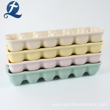 Wholesale Colorful Custom Ceramic Egg Crate