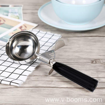 Plastic Black Handle Metal Ice Cream Scoop