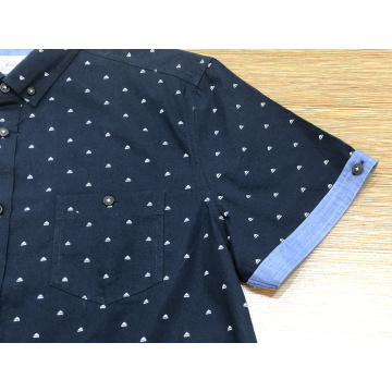 Male print 100% cotton short sleeve shirt