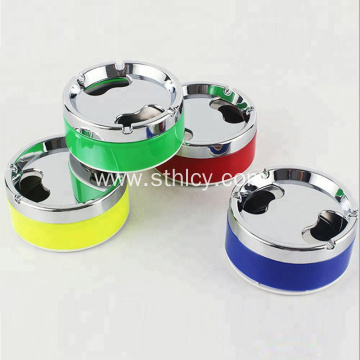 Round Custom Portable Colorful Ashtray With Lids