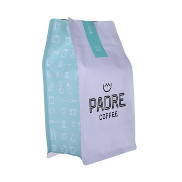 Eco-friendly High Barrier Foil flat bottom coffee bag matte