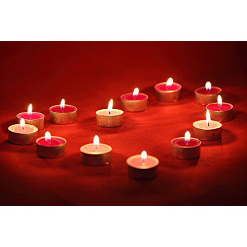 Scented Tealight Paraffin Wax Candles in Aluminum Cup