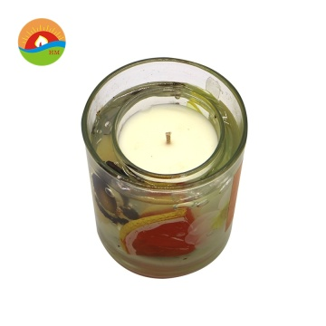 2019 Elegant shape small decorative gel jelly candle