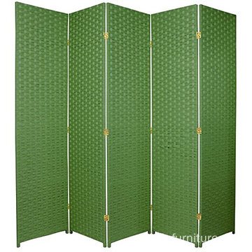 Durable design Light Green Woven Fiber Room Divider