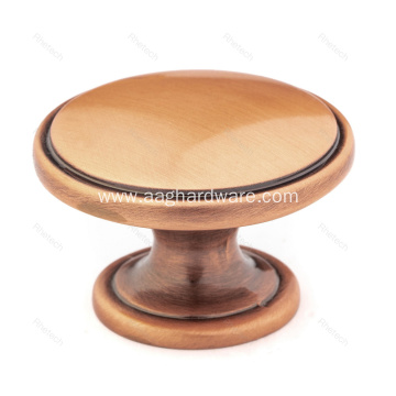 Antique Copper Round Cabinet Knobs
