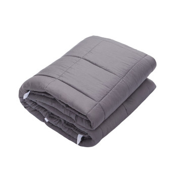 Gray Color Non-Toxic Glass Beads Filled Weighted Blanket