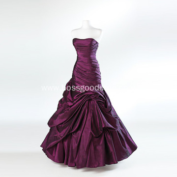 Fashion Trumpet Mermaid Strapless Floor-length Taffeta Ruffled Dress for Europe