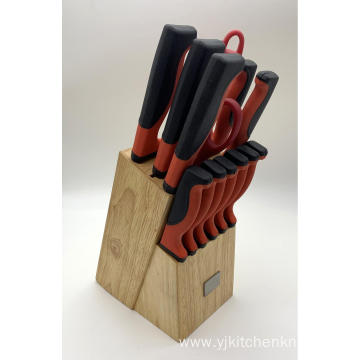 14pcs Stainless steel TRP handle knife set