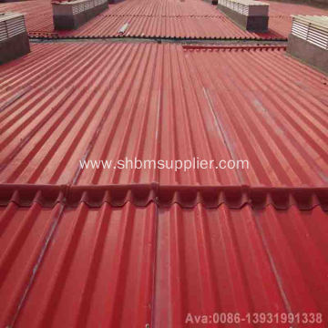 Weather Resistant Heat Insulation Magnesium Oxide Roof Tile