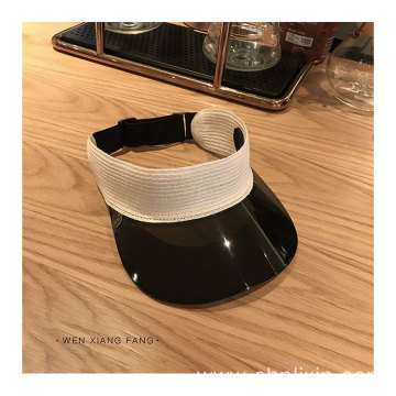 Foldable transparent PVC sun visor cap hat