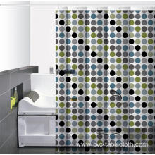 Waterproof Bathroom printed Shower Curtain 78 Inches Long