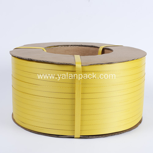 Hot sales yellow color plastic bundle packing strap