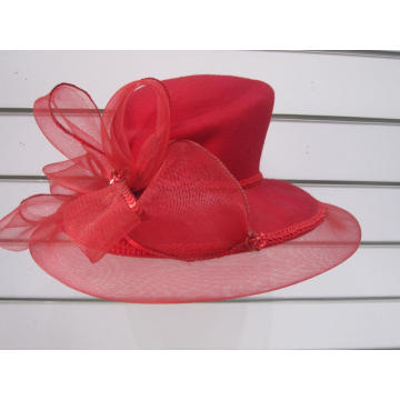 Ladies' Wool Felt Winter  Designer Church Hats