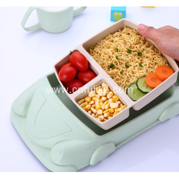 Cartoon Car Shape Tableware Set for Baby
