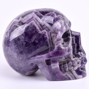 1000g Natural Crystal Craft Home Decorative Dreamy Amethyst Crystal Skull Head