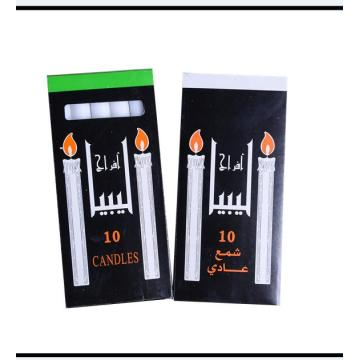 10pcs wax candles in one black box