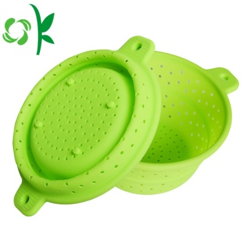 Silicone Filter Kitchenware Basket for Food Foldable