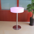 Illuminated Plastic Furniture Glowing Led Round Table