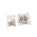 Gift craft folding clear plastic pillow box