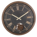 Retro 16 Inch Rustic Gear Wall Clock