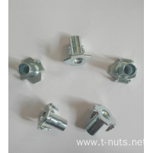 M6X16Half thread Jagged  furniture tee nuts