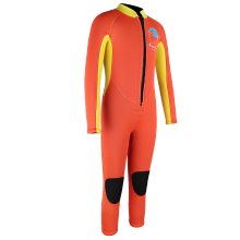 Seaskin Yellow Front Zip Diving Wetsuit Weights