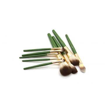 Luxury Green Natural Hair Makeup Brushes Kit