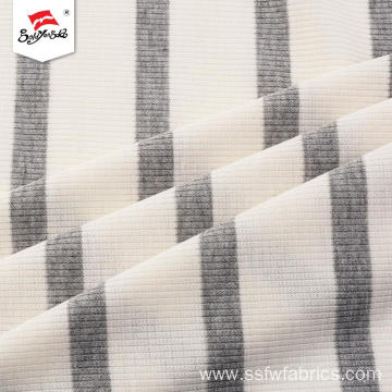 Dyed Composition Polyester Rib Knit Fabric