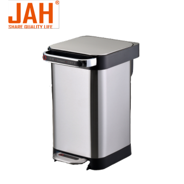 JAH Stainless Steel Semi-automatic Compress Pedal Dustbin