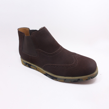Wholesale Round Toe Mens Casual Suede Leather Boots