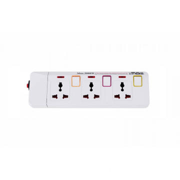 3 Outlet Universal Extension Socket