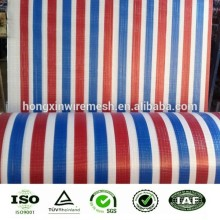 red blue white stripe 160gsm tarpaulin