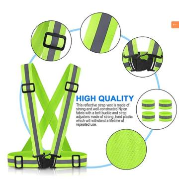 Polyester highlight reflective stripe safety belt