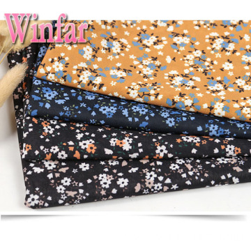 Single Jersey Flower Printed DTY Polyester Knit Fabric
