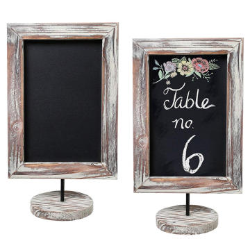 12-Inch Rustic Torched Wood Quadro Memorando Quadro & Message Chalkboard