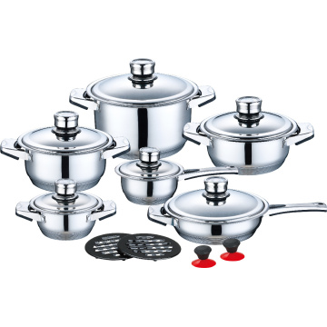 Stainless Steel Cookware in Factory Price 16pcs