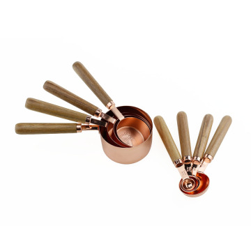 Rose Gold Plated Stainless Steel Measuring Spoons Set