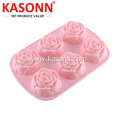 6 ly Medium Rose Silicone Bread Muffin Pan
