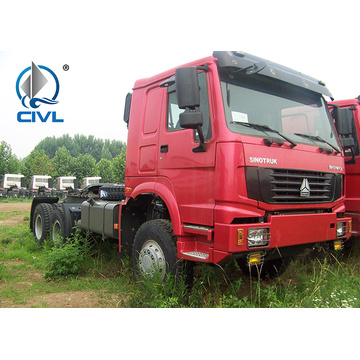 371hp RHD tractor truck of sinotruk for tanzania