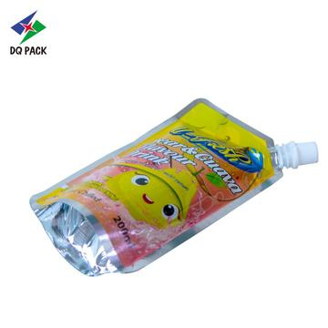 Stand up spout pouch with injection hole for juice