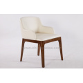 Solid Wood Grace Dining Chair With Armrest