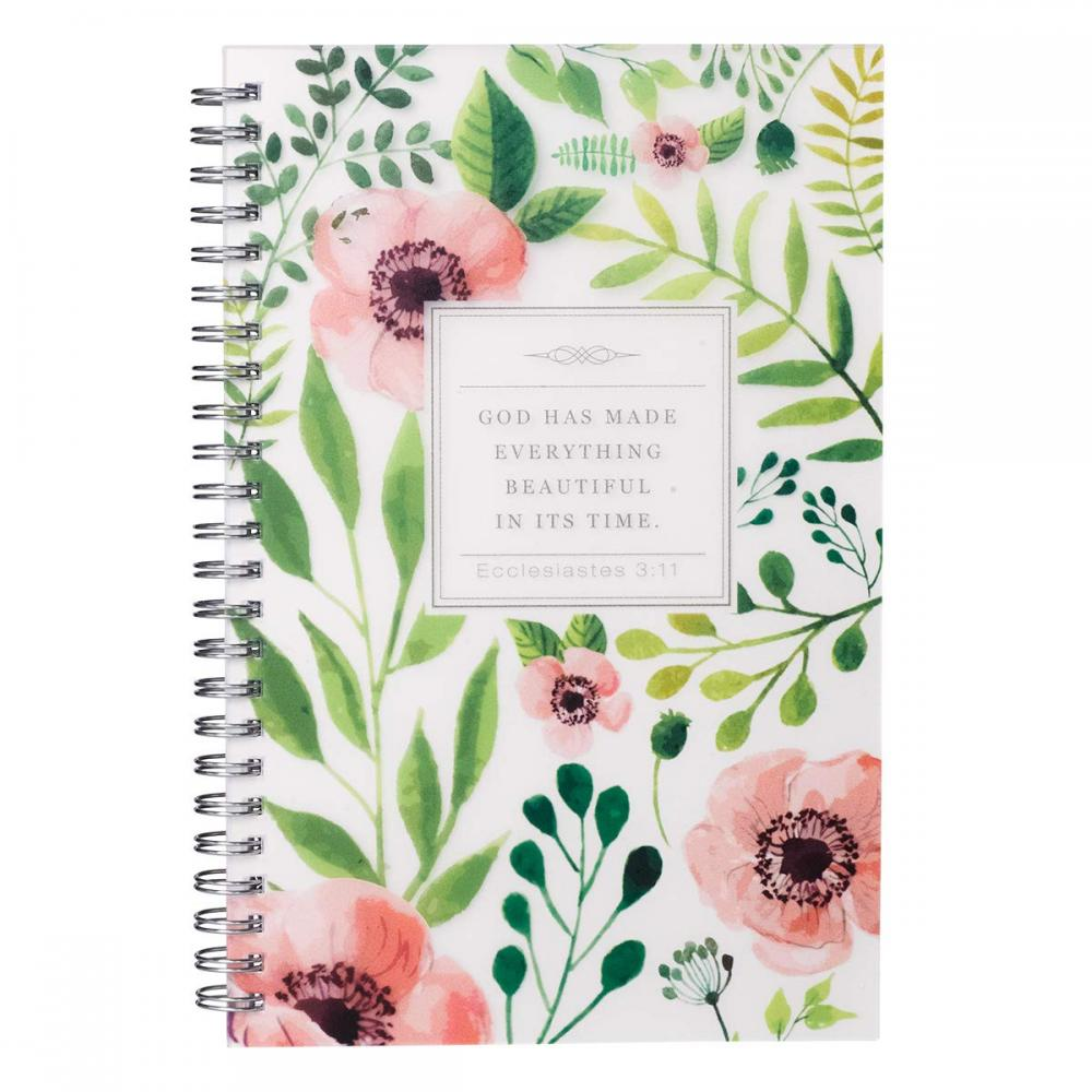 FLOWER SPIRAL NOTEBOOK -0