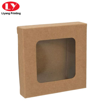 Cheap Kraft Paper Box with Clear PVC Window