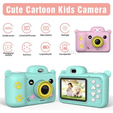 Kid Camera 24MP Dual Lens 2.4'' Full HD 1080P Digital Video Photo Recorder Vlogging Camcorder Mini Children Camara Baby Toy Gift