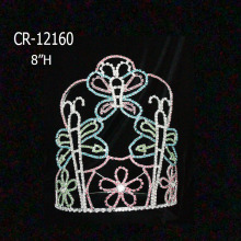 "Wholesale Cheap 8"" Rhinestone Butterfly Pageant Crowns"
